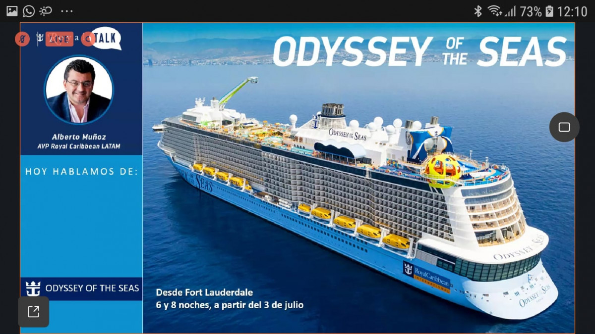 El Odyssey of the Seas es el barco más nuevo de la flota de la compañía.
