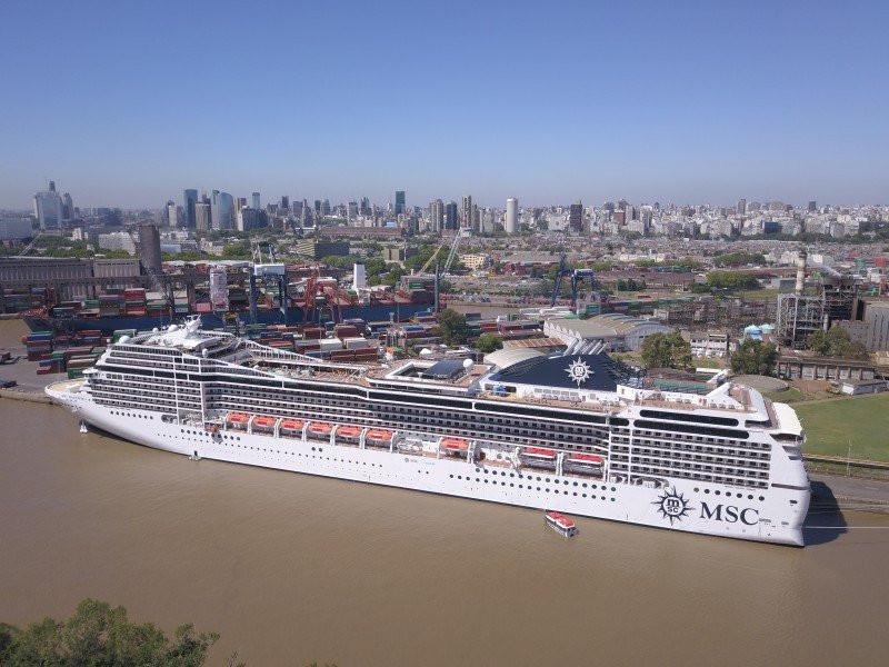 MSC destinará cinco barcos al Cono Sur este verano.