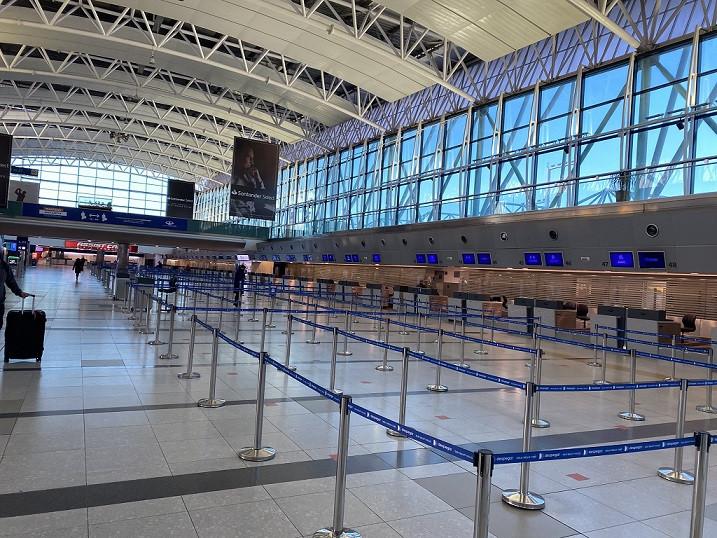 Aeropuerto de Ezeiza esta semana. Foto: @gorgoletmartin