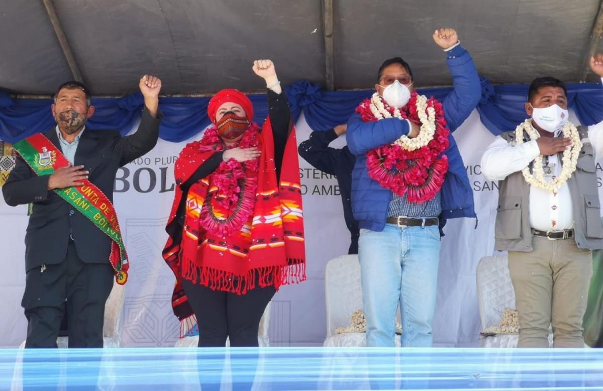 Presidente de Bolivia, Luis Arce, en Copacabana.