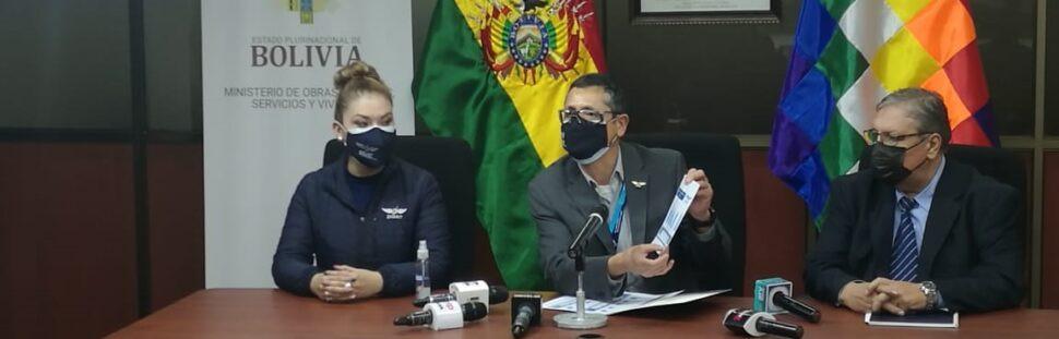 Director del DGAC informó las últimas cifras en conferencia de prensa. Foto: DGAC Bolivia