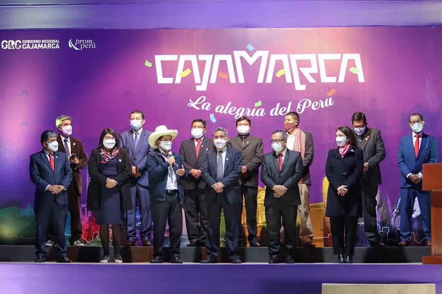 El presidente Pedro Castillo en una presentación de promoción turística de Cajamarca. Foto: @PedroCastilloTe