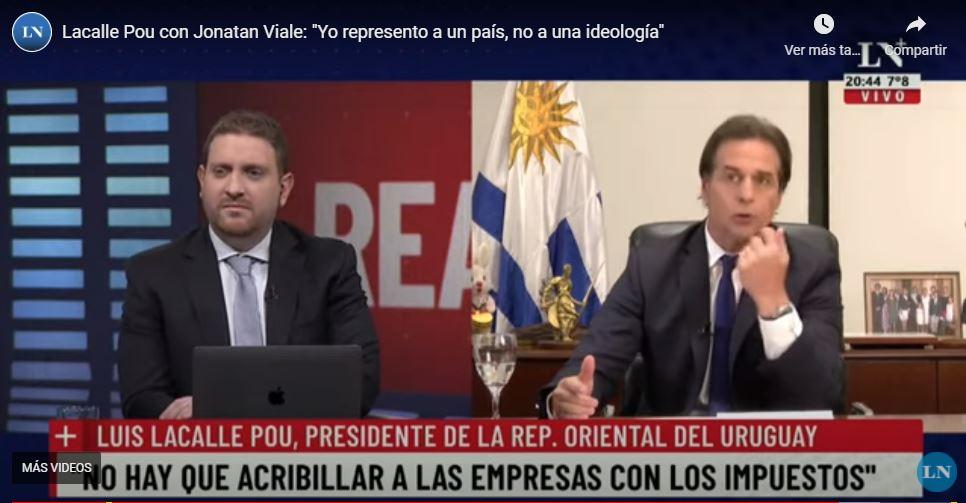 Presidente Lacalle Pou en entrevista con la Nación.