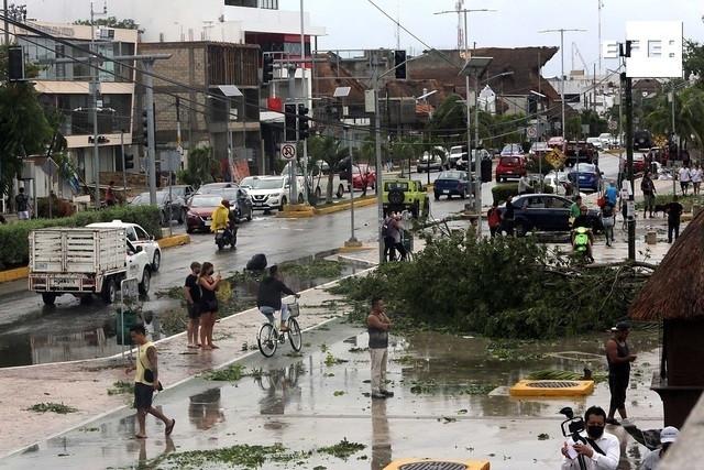 Efectos del huracán Grace en Tulum. Foto:
