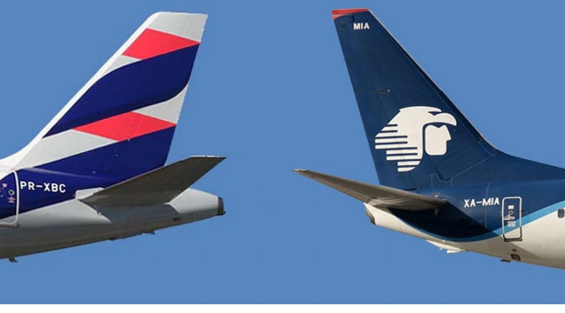 Aeroméxico y LATAM Airlines ganan tiempo ante la Justicia de EEUU. Imagen: Expreso.info