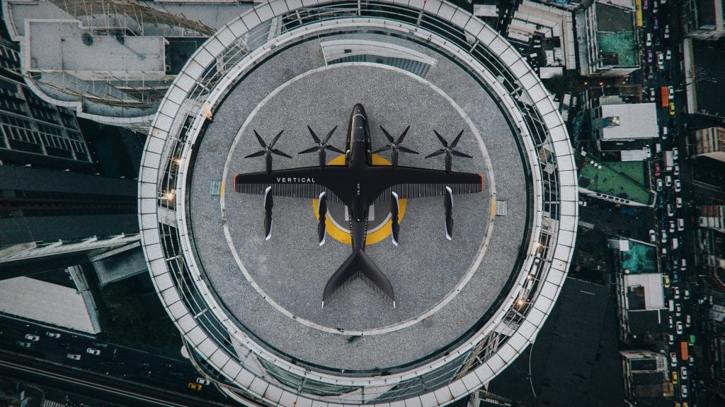 Vertipuerto para operación de aviones de despegue vertical. Foto: Avolon.