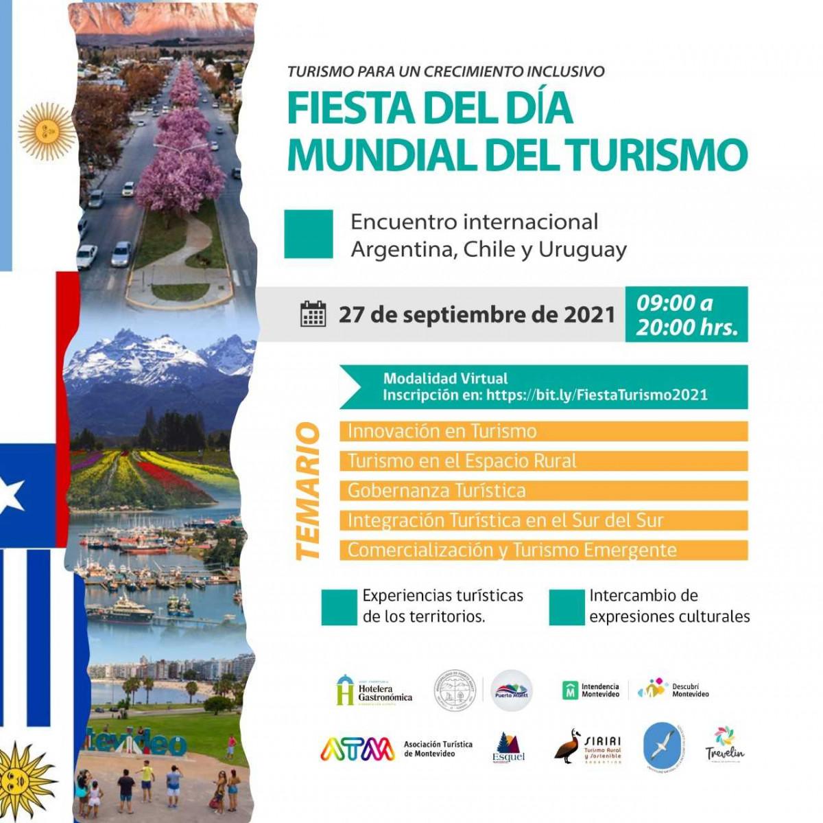 Fiesta del Día Mundial del Turismo en Argentina, Chile y Uruguay.