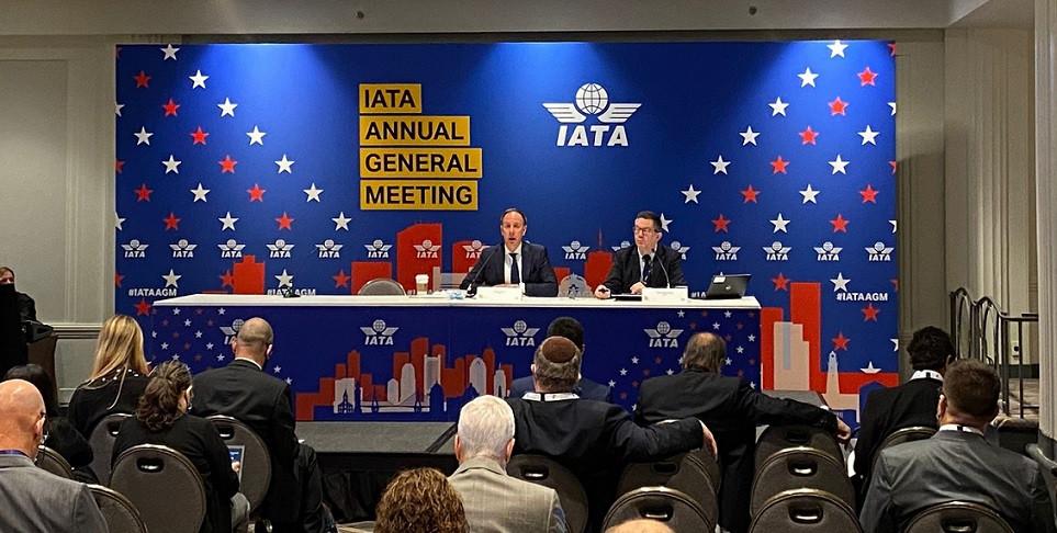 Peter Cerdá en la Asamblea General de la IATA celebrada en Boston.