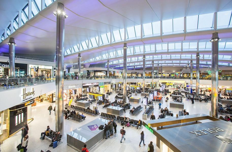 Aeropuerto londinense de Heathrow.