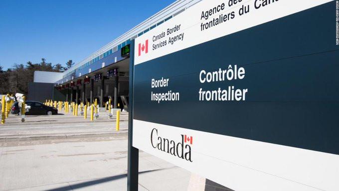 Frontera entre EEUU y Canadá.