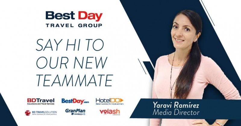 Yaravi Ramírez dirigirá el departamento de Medios de Best Day Travel Group
